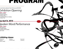 Saturday program exhibition poster