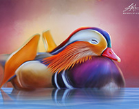 """Beautiful Birds Series"" Digital Art by Wayne Flint"