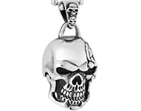 Super Cool Vintage Big Titanium Skull Pendants