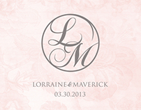 L&M Wedding Logo