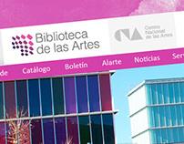 Biblioteca de las Artes logo and website