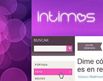 Intimos blog design