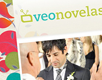 VeoNovelas blog logo & web design