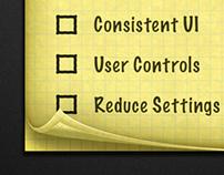 Skeuomorphism NotePad