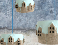 City Lights Ice Blue Topping | Paperpulp Lamp