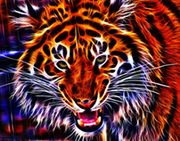 Fractalius HDR Big Cats