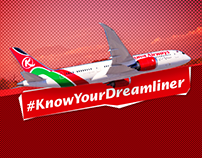 Kenya Airways / Dreamliner Info-Graphics
