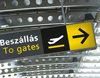 Budapest Airport Terminal 1 _ signage & wayfinding