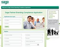 Sage Partner Branding Compliance Application