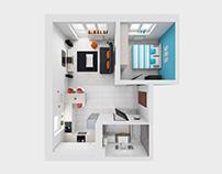 Bright Flat / Interior Design
