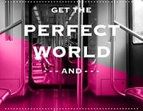 un mundo perfecto en el metro