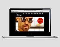 Website design & art direction for artist Bilal