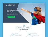 Regent home page design