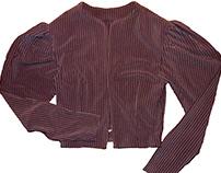 Garment: Gigot sleeve Jacket in Rib Knit