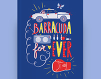 COUVERTURE ROMAN JEUNESSE BARRACUDA FOR EVER