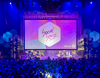 2015 Spredfast Social Stage Event Branding
