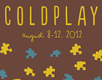 Coldplay concert poster