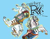Book Cover Illustration, Catcher in the Rye