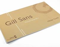 Gill Sans - Manual tipográfico