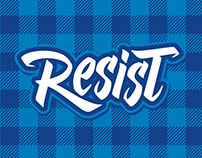 RESIST - LOGOTYPE (Hand Lettering)