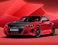 2021 Audi e-tron GT Black Center