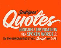 Quotes Script & Caps —Type family