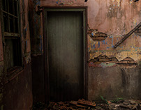 Old door of an old saloon