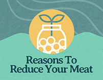 Reasons To Reduce Your Meat Infographic