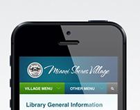 Miami Shores Mobile site design