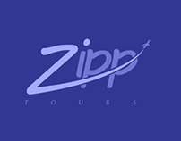 Zipp Tours Logo Design