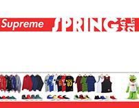 Advertising design brand Supreme