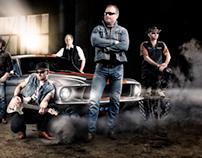 Cd cover for Norwegian country band Vassendgutane