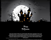 Halloween square vector cartoon background ( pumpkin )