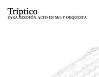 Tríptico, alto saxophone concerto