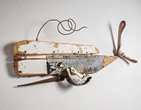 Cold Whale - Wall Sculpture