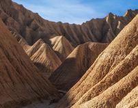 Bardenas Reales. Desert mountains. Spain.