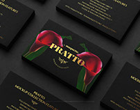 Black Business Cards Stacks Arranged in Rows Mockup