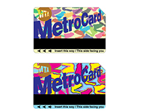 NYC Metrocard promoting amnh and its hall of dinosaurs