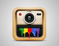 iOS app-collage camera launcher icon