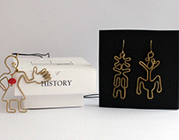 Jewelry inspired by the motifs from medieval tombstones