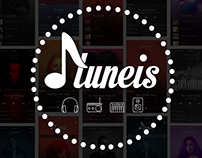 Tuneis Music. Mobile UI/UX Design