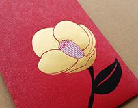 牡丹順、茶花發紅包袋設計 Flower
