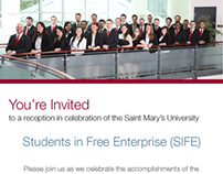 SIFE Reception Invitation