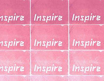 Inspire Lino Print Poster