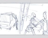 Sketch Storyboard.