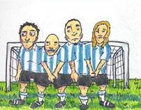 Estampitas del fútbol.