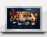 Late Night London. Website design concept.