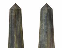 Pair of Monumental Steel Obelisks