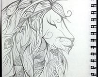 Elegant Lion Drawing