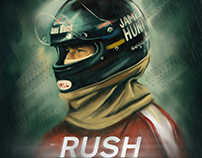 RUSH (2013) Movie Fanmade Poster.